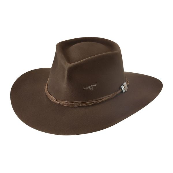 Bullhide Hats: Couture Felt Outlaw Trouble Chocolate NEW