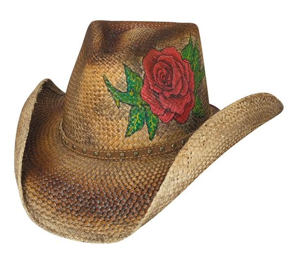 Bullhide Hats Sassy Cowgirl Collection: Straw Genuine Panama Love Story Pecan S-XL