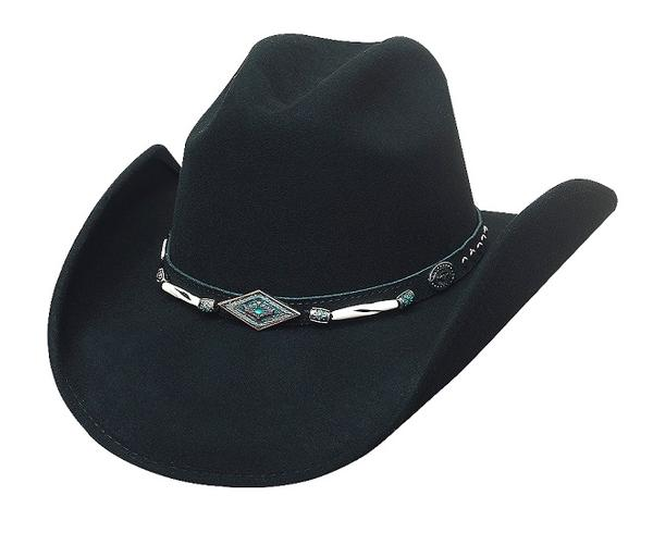 Bullhide Hats American Frontier Collection: Wool Mojave Black S-XL
