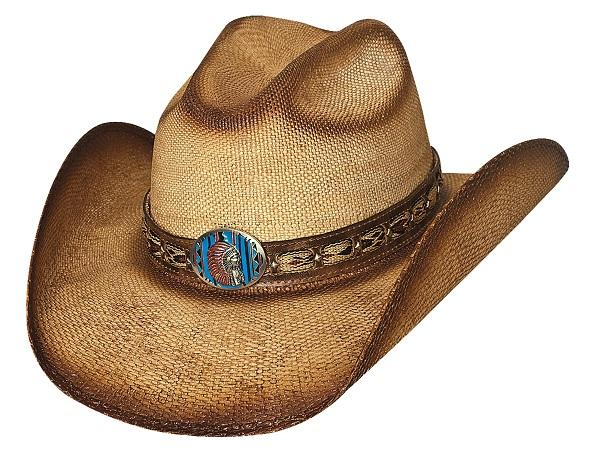 Bullhide Hats American Frontier Collection: Straw Bangora Red Cloud Natural S-XL