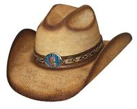 Bullhide Hats: Straw Bangora Red Cloud Natural