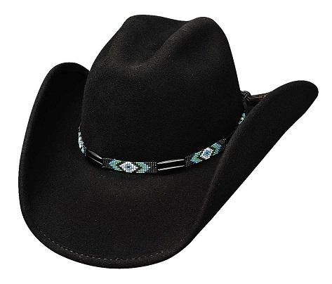 Bullhide Hats American Frontier Collection: Wool Secret Message Black S-XL