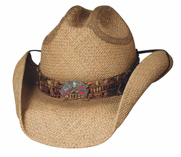 Bullhide Hats Patriot Collection: Straw Raffia Southern Comfort Natural S-XL