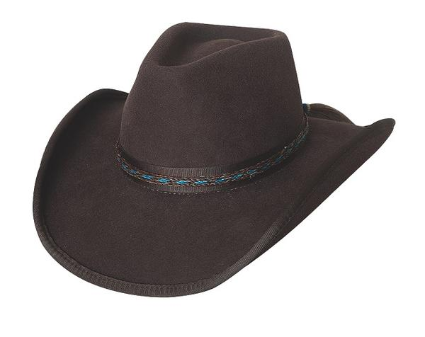 Bullhide Hats American Frontier Collection: Wool Trail of Tears Chocolate S-XL