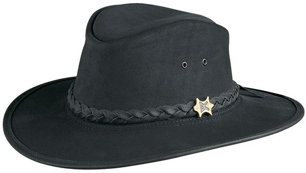 Conner Handmade Hats BC Hats: Leather Bush and City Black S-2XL