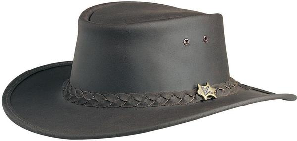 Conner Handmade Hats BC Hats: Leather Bush Walker Oily Brown S-3XL