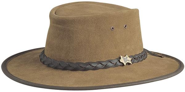 Conner Handmade Hats BC Hats: Leather Bush Walker Suede Bark S-2XL