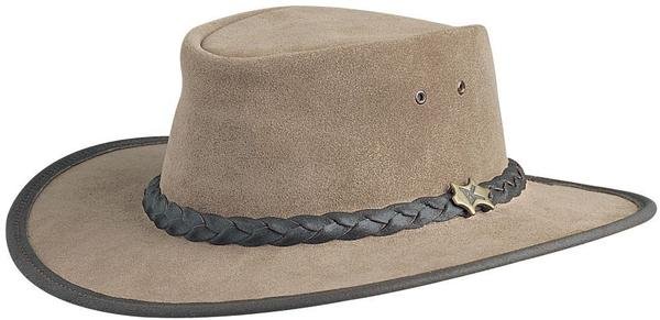 Conner Handmade Hats BC Hats: Leather Bush Walker Suede Moose S-2XL