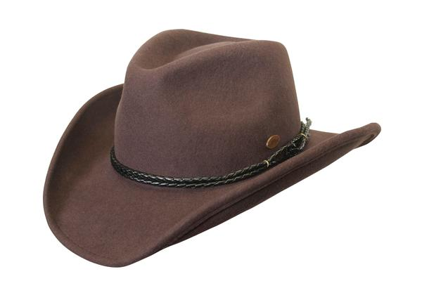 Conner Handmade Hats Cowboy Western Style: Wool Outlaw Brown
