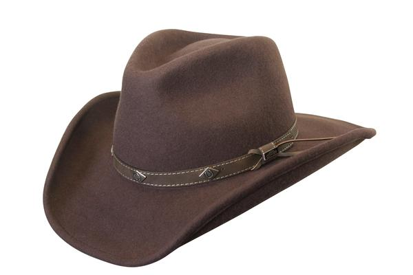 Conner Handmade Hats Cowboy Western Style: Wool Corral Brown Backordered