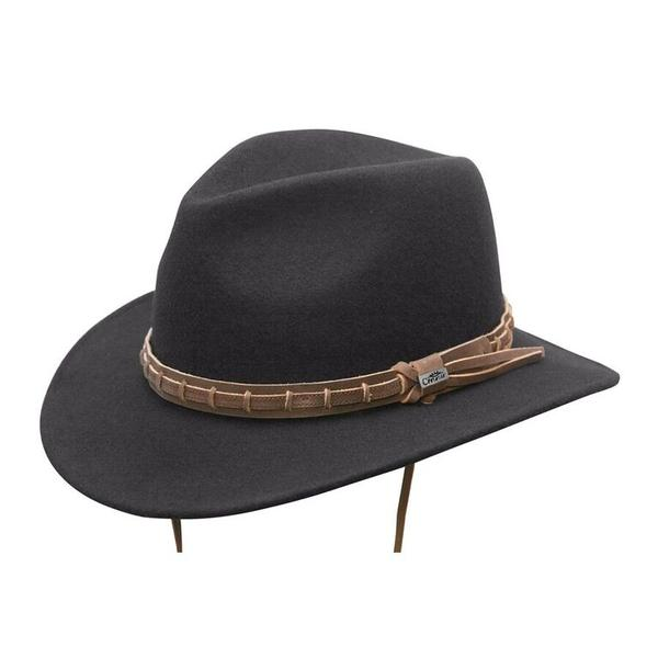 Conner Handmade Hats Safari & Outback: Wool Waterproof Outdoor Country Black
