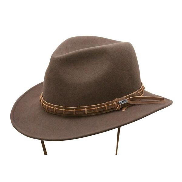 Conner Handmade Hats Safari & Outback: Wool Waterproof Outdoor Country Brown S-XL