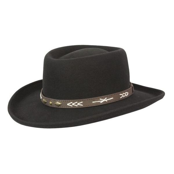 f1a517211 Conner Handmade Hats Cowboy Western Style: Wool Gambler Arizona Black  Backordered