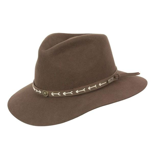 Conner Handmade Hats Safari & Outback: Wool Mt. Warning Brown