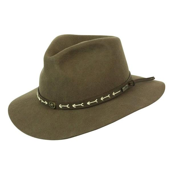 Conner Handmade Hats Safari & Outback: Wool Mt. Warning Loden