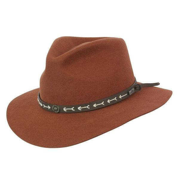 Conner Handmade Hats Safari & Outback: Wool Mt. Warning Rust S-XL