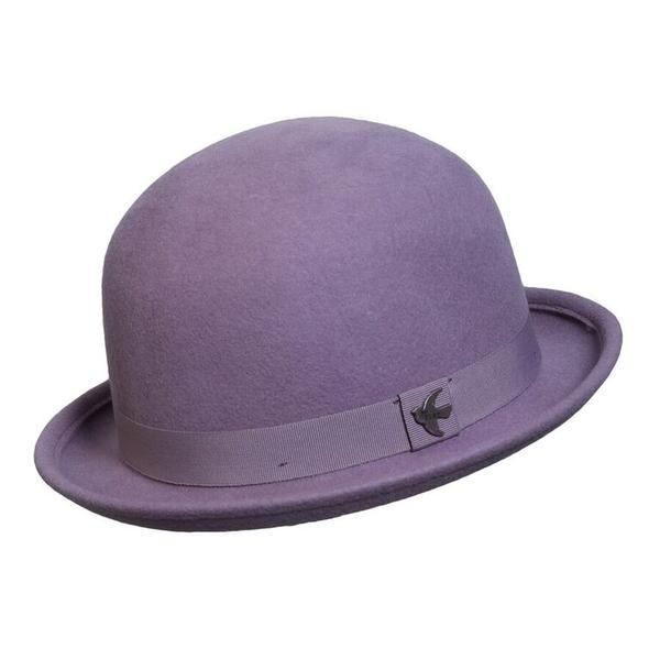 Conner Handmade Hats Boho: Bowler Wool St. George Lilac One Size