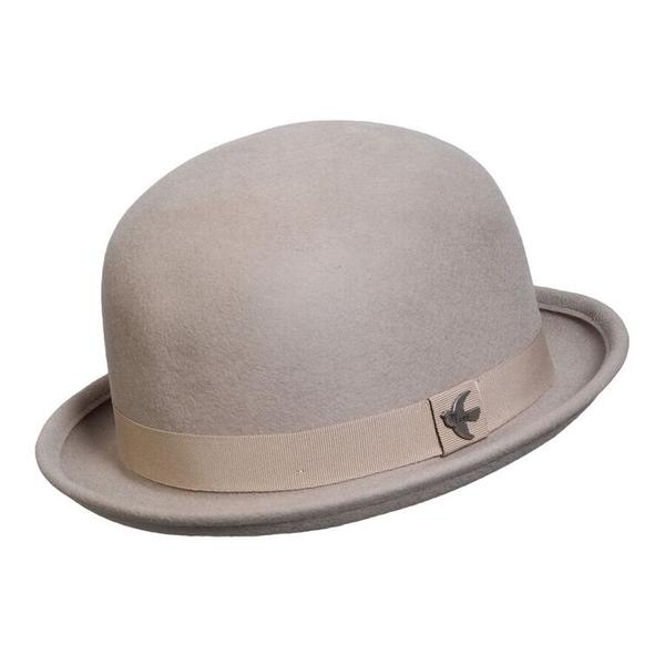 Conner Handmade Hats Boho: Bowler Wool St. George Putty One Size