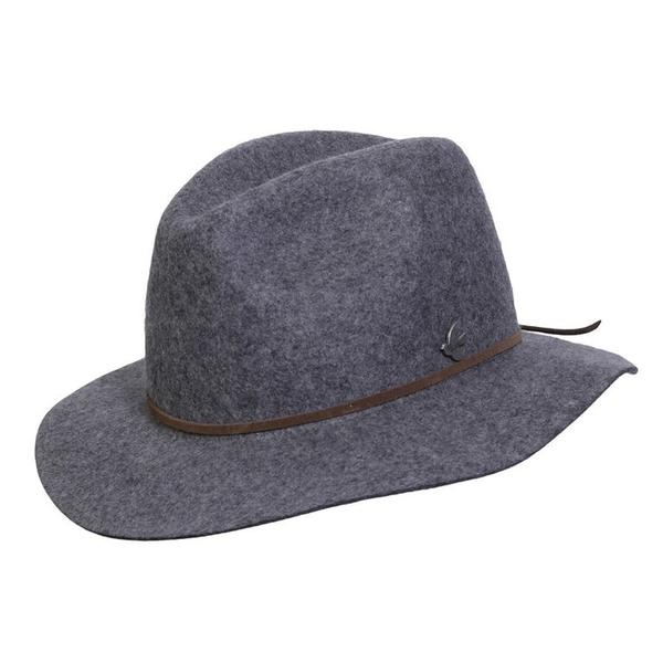 Conner Handmade Hats Boho: Fedora Wool Rockaway Beach Grey Mix