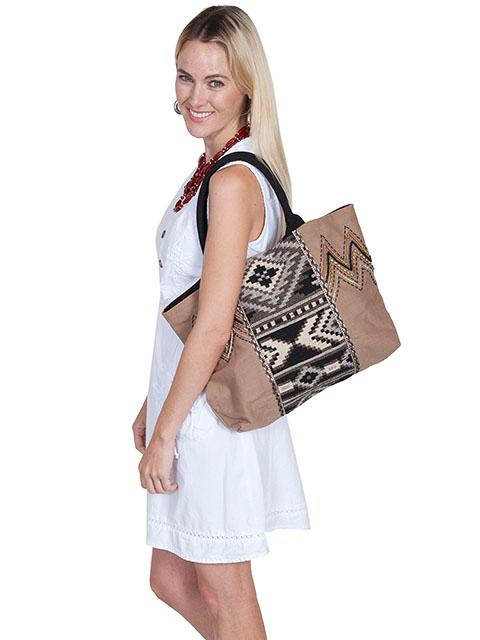 Scully Cantina Collection Handbag: Shoulder Bag Aztec Design