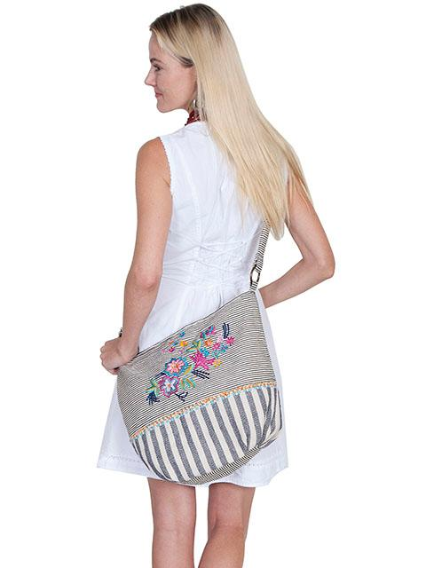 A Scully Cantina Collection Cotton Handbag: Shoulder Bag Dual Print