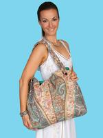 ZSold Scully Cantina Collection Cotton Handbag: Shoulder Bag Paisley and Floral Design SOLD