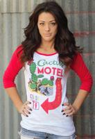 Original Cowgirl Clothing: Tee Baseball Cactus Motel
