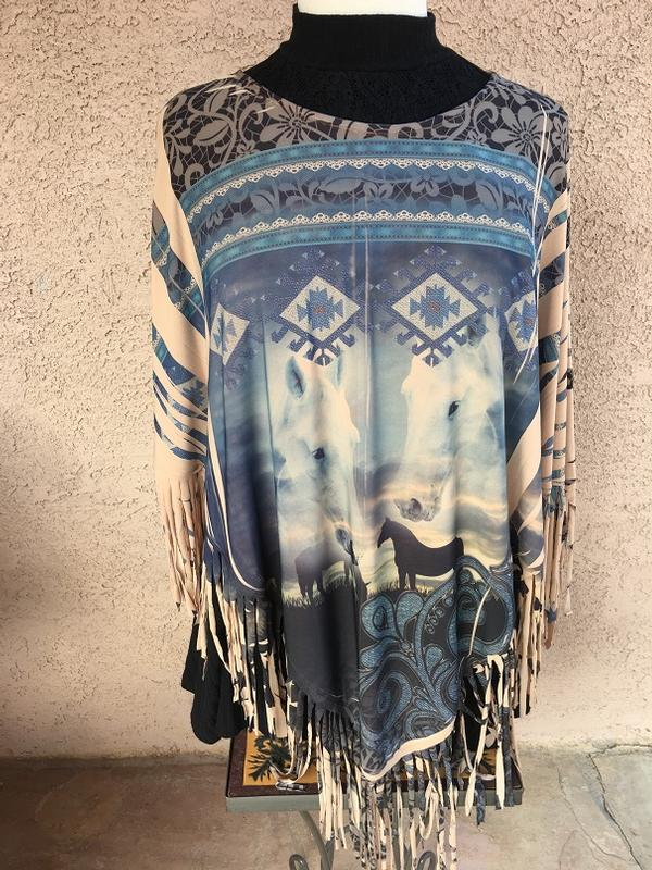 Ladies' Fantazia Apparel Poncho: Nogales SALE