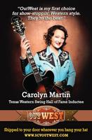 CD Carolyn Martin: Songs of Patsy Cline, Radio Guest, SCVTV OutWest Concert