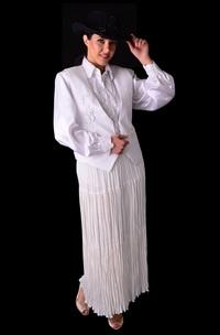Ann N Eve Collection: A Western Wedding Ensemble Western Broomstick 3 pc XS-XL