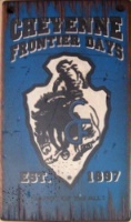Wall Sign Rodeo: Cheyenne Frontier Days Blue Small