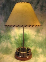 ZSold  Lamp by Western Lamps: Circle the Wagons SOLD