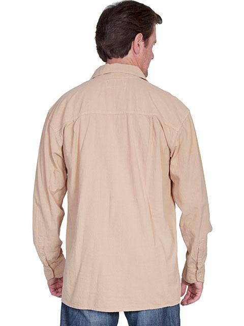 cf359b30ce ... Scully Men s Cantina Collection Contemporary Shirt  Cotton Pullover  Laceup Sand
