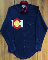 Rockmount Ranch Wear Men's Vintage Western Shirt: A Colorado Flag Navy 2XL