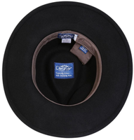 Conner Handmade Hats Safari & Outback: Wool Aussie Style Black