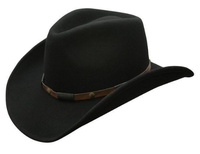 Conner Handmade Hats Cowboy Western Style: Wool The Roper Black S-XL