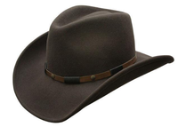Conner Handmade Hats Cowboy Western Style: Wool The Roper Brown S-XL