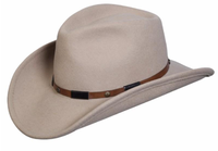 Conner Handmade Hats Cowboy Western Style: Wool The Roper Putty S-XL