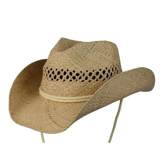Conner Handmade Hats Cowboy Western Style Raffia: Kids Raffia Coby Natural