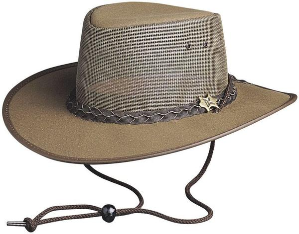 Conner Handmade Hats BC Hats: Mesh Cool As A Breeze Canvas Brown Backordered