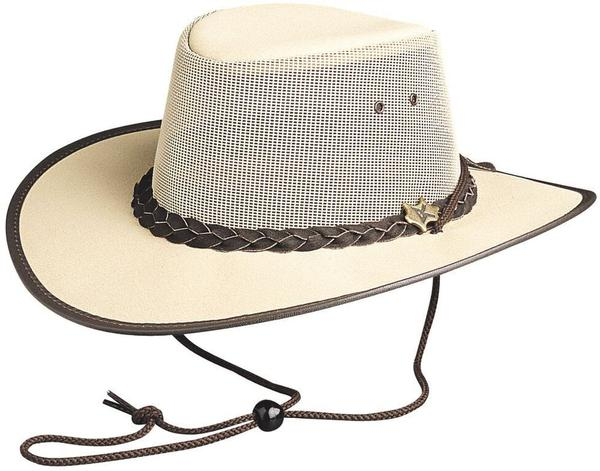 Conner Handmade Hats BC Hats: Mesh Cool As A Breeze Canvas Beige and Chocolate