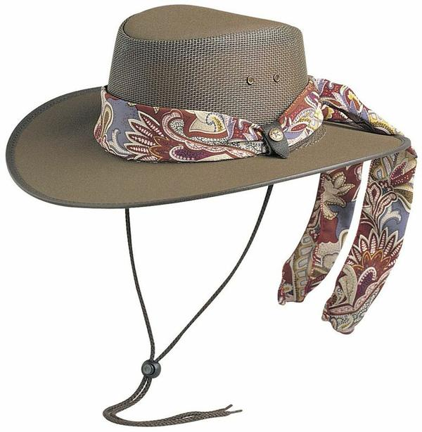 Conner Handmade Hats BC Hats  Mesh Cool As A Breeze Canvas with Scarf Brown 9ae97694b9d4