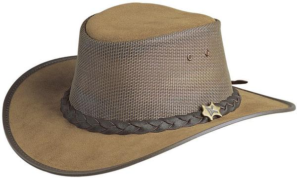 Conner Handmade Hats BC Hats: Leather Cool As A Breeze Mesh Bark