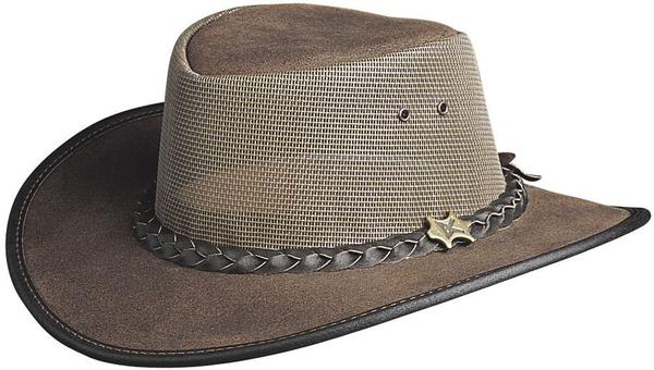 Conner Handmade Hats BC Hats: Leather Cool As A Breeze Mesh Mocha