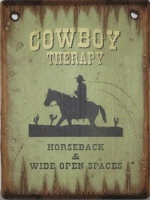 Cowboy Brand Furniture: Wall Sign-Advice-Cowboy Therapy