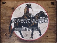 Wall Sign Business: Cowboys Wanted