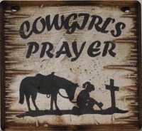Wall Sign Faith: Cowgirl's Prayer