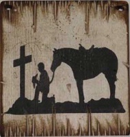 Wall Sign Faith: Cowboy's Prayer