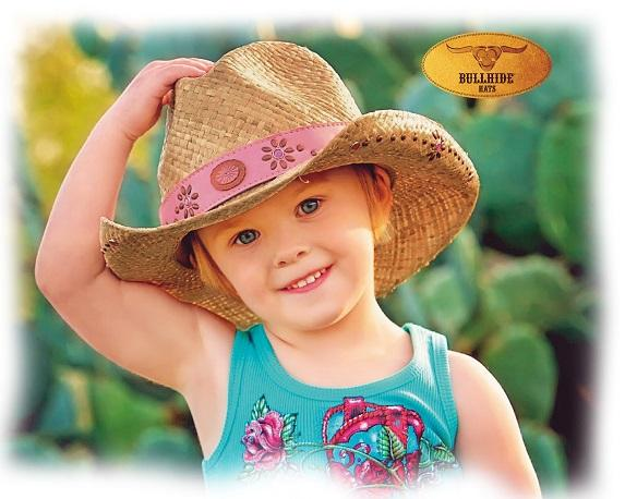 Bullhide Hats: Kid's Raffia Daughter of the West Natural