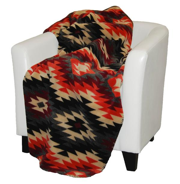 Denali® American Dakota Collection: Starburst Orange Throw Blanket